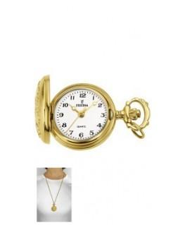 Reloj Collar Festina chapado