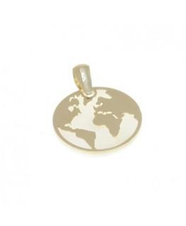Colgante de Oro y Nácar Mundo