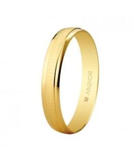 Alianza de boda de oro textura