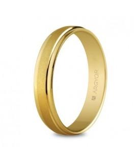 Alianza de boda de oro 4mm