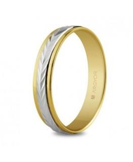 Alianza de boda dos oros 4mm