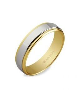 Alianza de boda de oro bicolor