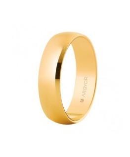 Alianza de boda de oro 9k