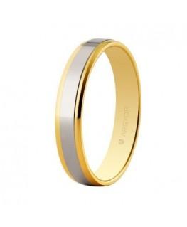 Alianza de boda en oro bicolor