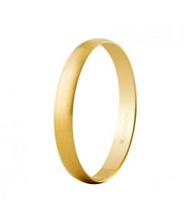 Alianza boda oro 3mm satinada