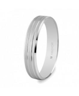 Alianza boda de oro blanco 4mm