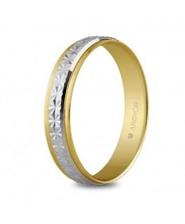Alianza de boda dos oros