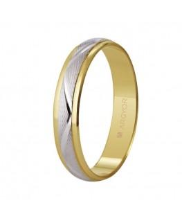 Alianza de boda oro bicolor